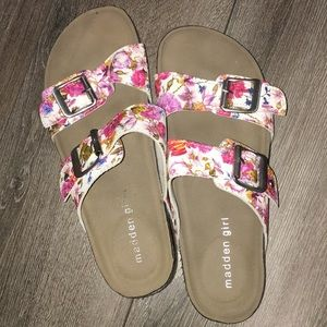 Flower slip on sandals